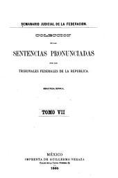 Semanario judicial de la Federación: Volumen 2;Volumen 7