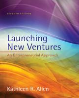 Launching New Ventures  An Entrepreneurial Approach PDF