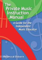The Private Music Instruction Manual PDF