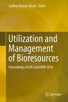 Utilization and Management of Bioresources PDF