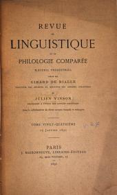 Revue de linguistique et de philologie comparée: Volumes23à24
