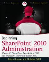 Beginning SharePoint 2010 Administration PDF