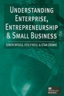 Understanding Enterprise  Entrepreneurship and Small Business PDF