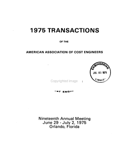 Transactions of the American Association of Cost Engineers PDF
