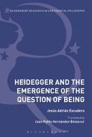Heidegger and the Emergence of the Question of Being PDF