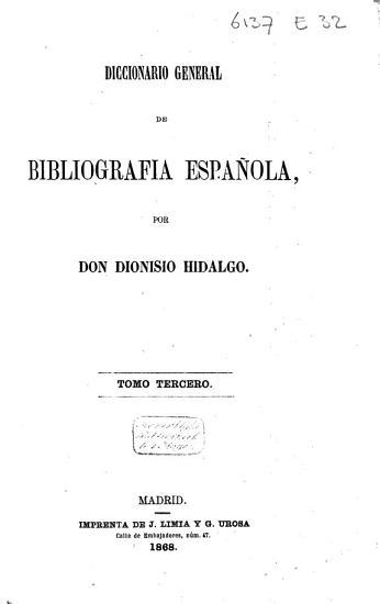 Diccionario general de bibliograf  a espa  ola  El sistema Los amantes  1868 PDF