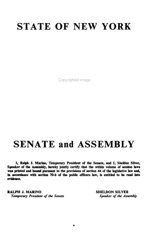 Laws of the State of New York Passed at the     Session of the Legislature PDF