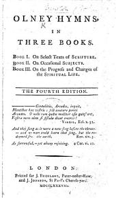 Olney Hymns, in three books. By John Newton and William Cowper