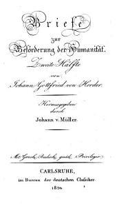 J. G. v. Herders sämmtliche Werke: Zur Philosophie und GeschichteElfter Theil