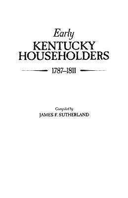 Early Kentucky Householders  1787 1811 PDF