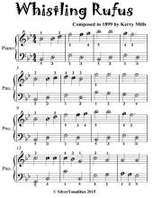 Whistling Rufus Rag - Easiest Piano Sheet Music for Beginner Pianists