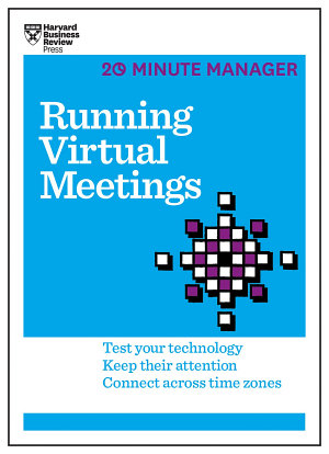 Running Virtual Meetings  HBR 20 Minute Manager Series