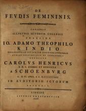 De feudis femininis