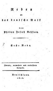 Reden an das deutsche Volk: 1. - 2. Aufl. - 1814