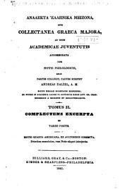 Collectanea graeca minora: Τόμος 2