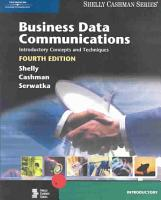 Business Data Communications  Introductory Concepts and Techniques PDF
