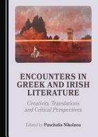 Encounters in Greek and Irish Literature PDF