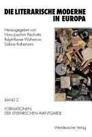 Die literarische Moderne in Europa PDF