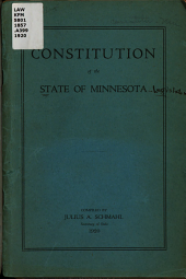 Constitution of the State of Minnesota