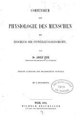 Compendium der Physiologie des Menschen: mit Einschluss der Entwickelungsgeschichte