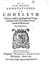 Annotationes in Coheleth