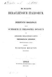De dialecto Heracliensium Italicorum