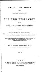 Expository notes, with practical observations, on the New Testament: Volume 2