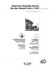 Current Housing Reports: American housing survey for the United States in .... H-150, Volume 3; Volume 19, Issue 3