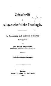 Zeitschrift für wissenschaftliche Theologie: Band 25
