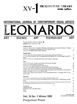 Leonardo   Journal of International Society for the Arts  Sciences and Technology PDF