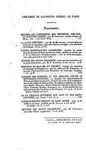 Journal anecdotique de Mme Campan; ou, Souvenirs recueillis dans ses entretiens