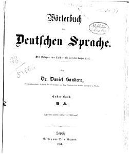 W  rterbuch der deutschen Sprache mit Relegen von Luther bis auf die Gegenwart PDF