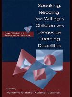 Speaking  Reading  and Writing in Children With Language Learning Disabilities PDF