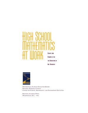 High School Mathematics at Work