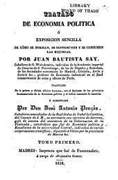 Tratado de economia politica: ó Exposicion sencilla de cómo se forman, se distribuyer y se consumen las riquezas