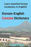 Korean-English Concise Dictionary