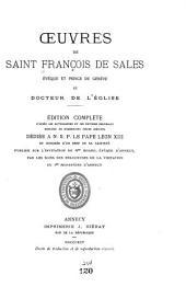 Œuvres de Saint François de Sales ...: Les vrays entretiens spirituels