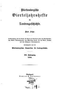 W  rttembergische Vierteljahrshefte f  r Landesgeshcichte PDF