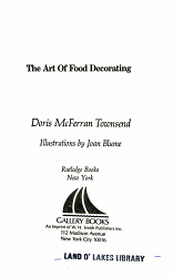 The Art Of Food Decorating Book PDF