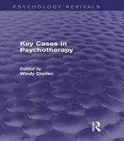 Key Cases in Psychotherapy  Psychology Revivals  PDF
