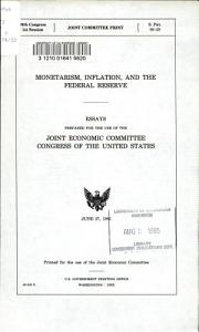 Monetarism  Inflation  and the Federal Reserve PDF