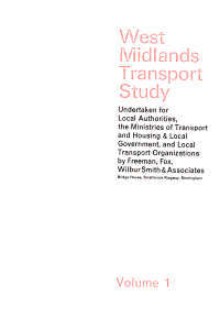 West Midlands transport study  undertaken for local authorities  the Ministries of Transport and Housing   Local Government  and local transport organizations PDF
