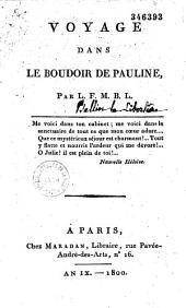 Voyage dans le boudoir de Pauline