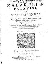 De rebus naturalibus libri XXX