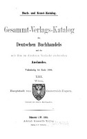Gesammt Verlags Katalog des deutschen Buchhandels PDF