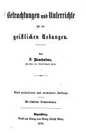Betrachtungen und Unterricht f  r die geistlichen Uebungen PDF