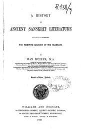 A History of Ancient Sanskrit Literature