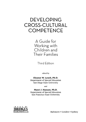 Developing Cross-cultural Competence
