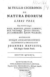 De natura deorum libri tres: Cum notis integris ...