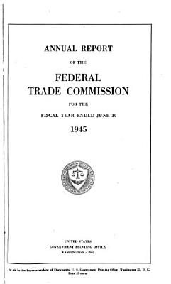 Annual Report of the Federal Trade Commission for the Fiscal Year Ended PDF